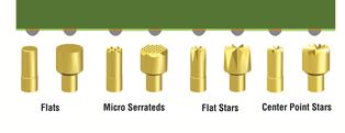 image of various tip styles with solder beads, bumps, domes